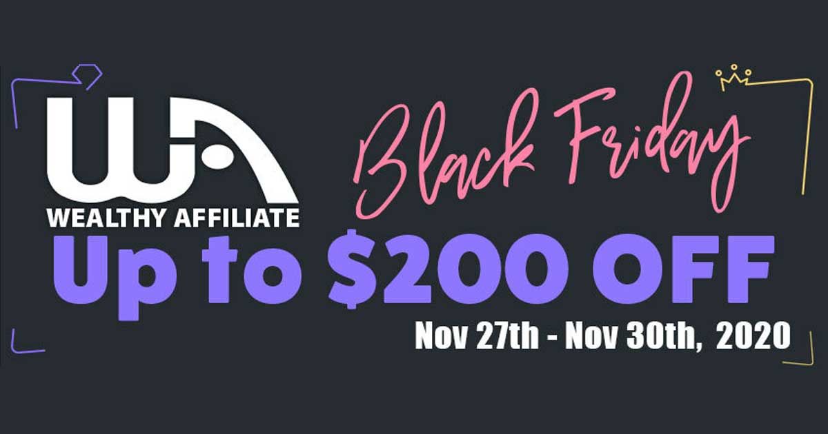 Black Friday Offer Wealthy Affiliate and The Black Friday Offer