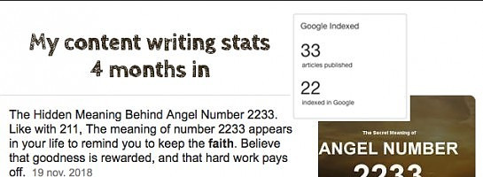 Checked my Writing Stats - Does Anyone Else Believe in Signs?